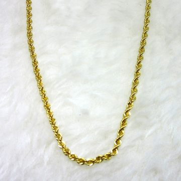 Gold silky rop chain