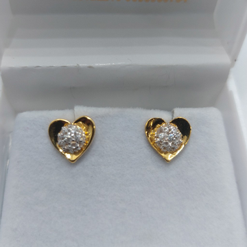 22k daily wear casting earring by Parshwa Jewellers