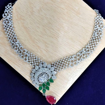 Puran Real Hallmarked Silver Necklace In Leafs Mot...