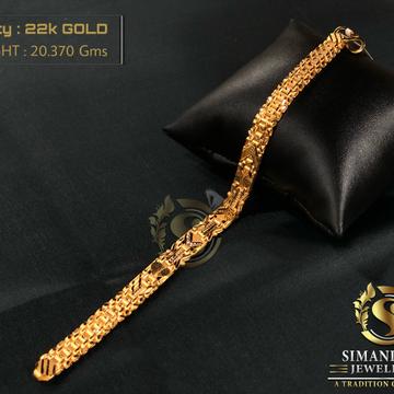 22KT Gold Trendy Bracelet For Men's  by Simandhar Jewellers