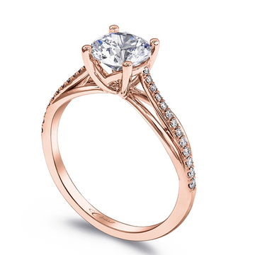 22kt rose gold and diamond beautiful engagement ring for women jkr013