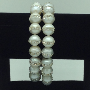 White round jagmagpearls 2layers braceletjbg019...
