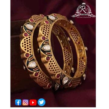 22 carat gold antique ladies bangles RH-LB393