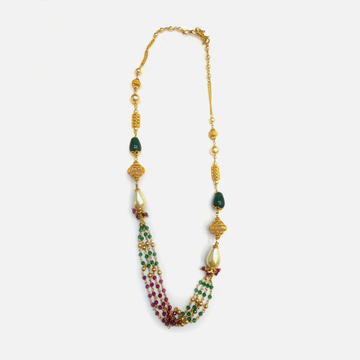 916 Gold Antique Colorstone Mala RHJ-4685