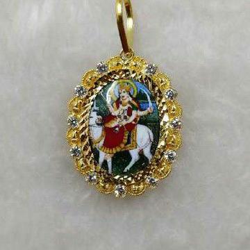 916 Gold Religious Gel Maa Photo Pendant