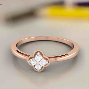 18KT Rose Gold Engagement Diamond Rings