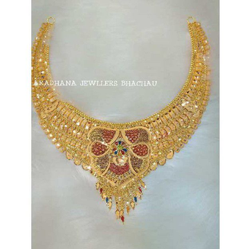 22KT Gold Bridal Half Necklace Set