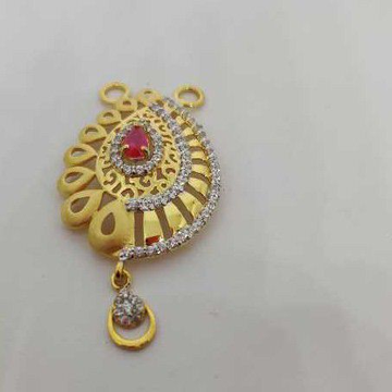 22k Ladies Fancy Gold M S Pendant M-33503
