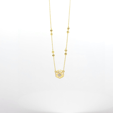 Diamond pendent with chain by