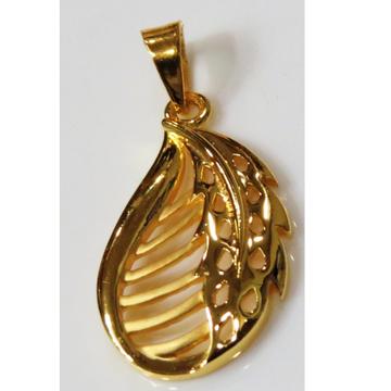 22kt gold plain casting leaf pendant