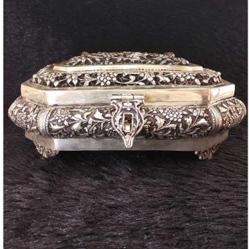 Dry fruit antique silver box