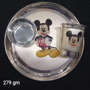 Silver Baby Mickey Mouse Dinner set  PJ001