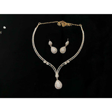 92.5 Sterling Silver Full Size Thread(Dori) Necklace Set Ms-3928