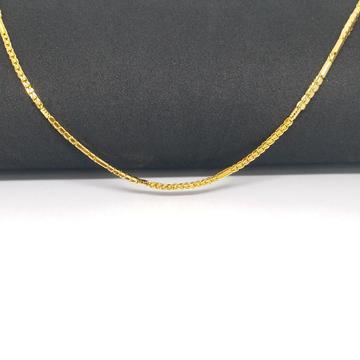 22 KT 916 Hallmark Gold Plain unisex Chain by Zaverat