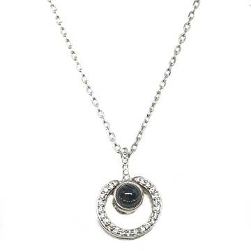 925 Sterling Silver Modern Necklace MGA - CHS1735