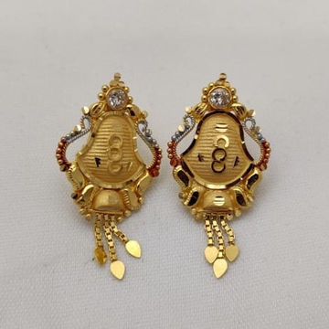 22KT Gold Topes Earring LMJ-521 by Lalit Manohar Jewellers
