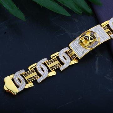 Mens Exclusive 916 Casting Jaguar Gold Bracelet-MCB21