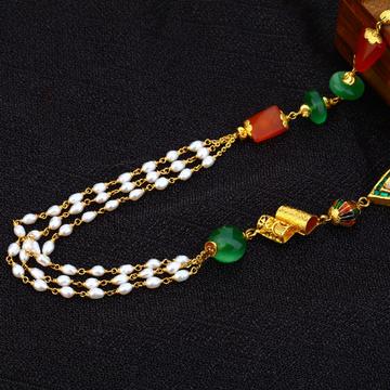 Ladies 22K Antique Moti Chain mala-AC159