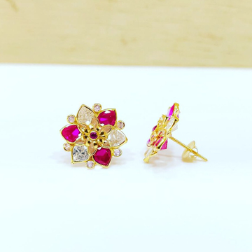 18Ct Gold Ruby Earring by
