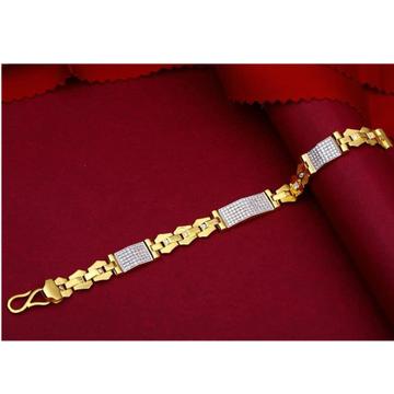 22kt gold casting CZ Gents bracelet RH-GB989