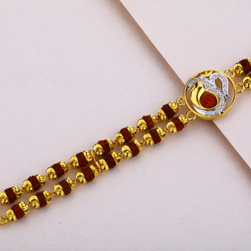 Mens Gold Rudraksha Bracelet-MRB08