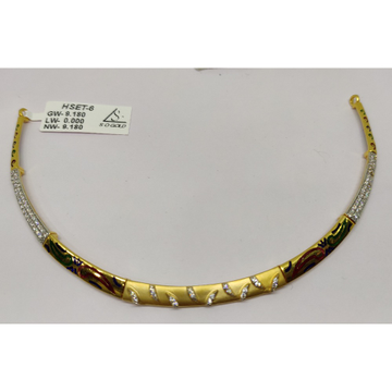 916 CZ Gold Trendy Necklace SOG-N003 by S. O. Gold Private Limited