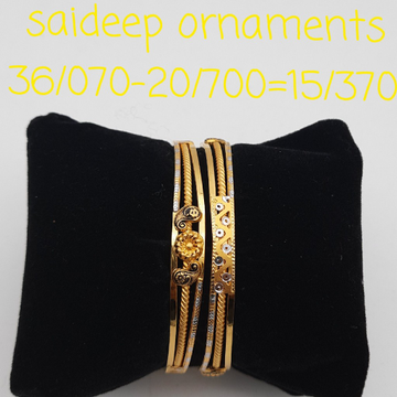 22 kt 916 copper kada bangle design