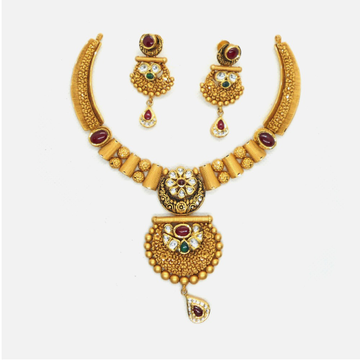 916 Gold Antique Wedding Jewellery Set RHJ-4961
