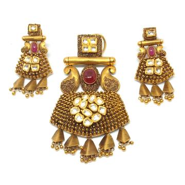 916 Gold Antique Pendant Set LJ-9