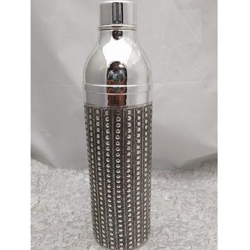 92.5 Pure Stylish Silver Bottle In Fine Antique Ca... by Puran Ornaments