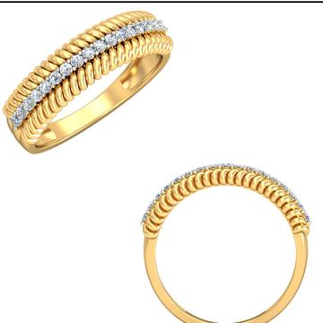 22Kt Yellow Gold Treasured Bond Ring For Women
