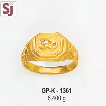 Om Gents Ring Plain GP-K-1361