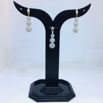 BRANDED FANCY 925 SILVER PENDANT SET by