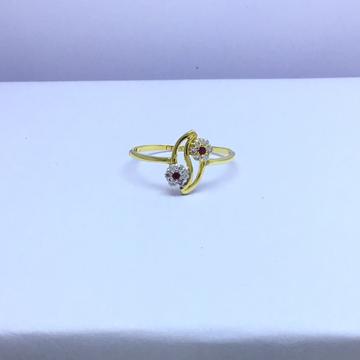designing fancy flower gold ladies ring