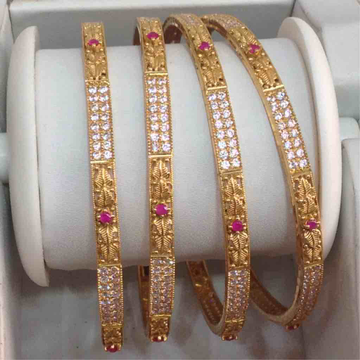 916 Gold Attractive Bangles