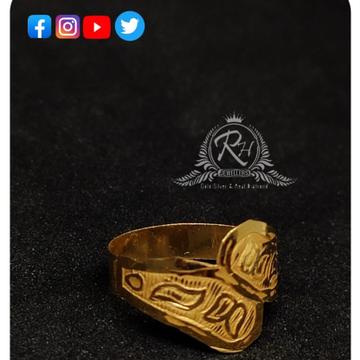 22 carat gold plain kids rings RH-KR930