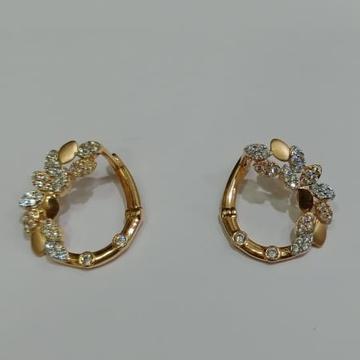 916 Hallmark Gold Leaves Design Earring  by