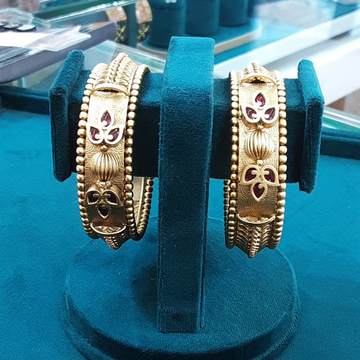 1 gm antique bangle by Samor Jewellers