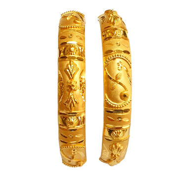 22K Gold Fancy Patla Bangles MGA - GP0086