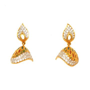 916 Gold Meenakari Designer Butti MGA - BTG0223