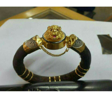 22K Gold Classic Gents Lion Bracelet ( Lucky )