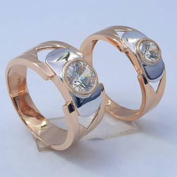 18KT Rose Gold Traditional design Hallmark Couple... by Panna Jewellers