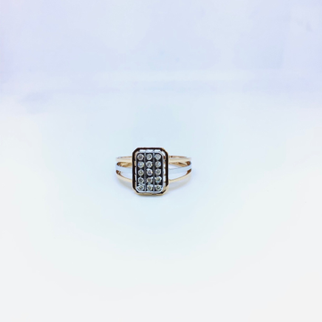 BRANDED FANCY REAL DIAMOND RING by