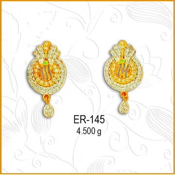 916 Gold CZ Simple Designer Earring ER-145