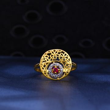 916 Gold Classic Designer Ring LR22