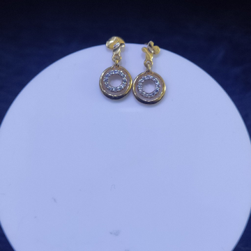 22KT/916 Yellow Gold Fleur Earrings For Women