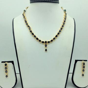 Black CZ Stones Necklace Set JNC0163