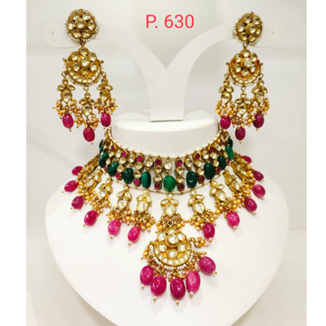 Choker polki with rubby and emerald stone set 1245