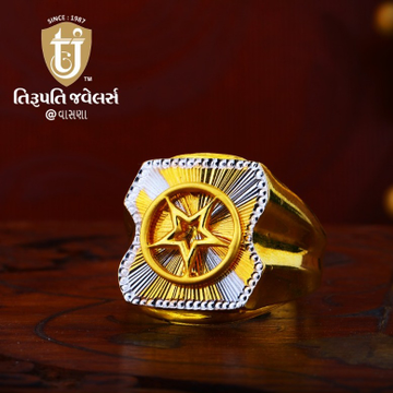 916 Gold Gents Ring TJ-R03