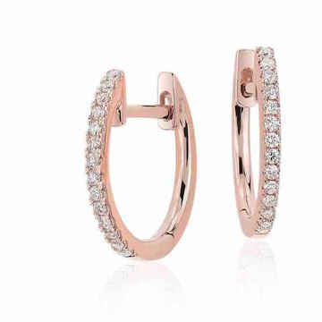 18KT Rose Gold Fancy Real Diamond Earring